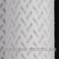poly transparent silk worm gut sandwich mesh pattern air mesh fabric from china manufacture
