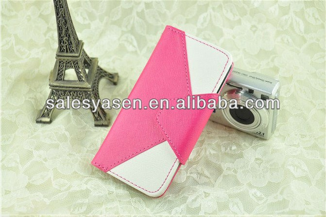 2013 hot selling Wallet Flip PU Leather Cover for iphone 5 Case