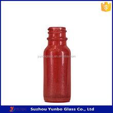 Wholesale 0.5 oz Specialty Ruby Red Boston Round Glass Bottles, good quality 15ml red glass bottles