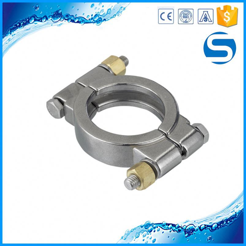304 316 sanitary pipe double pin stainless steel tri clamp