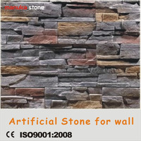 Dark color nature wall stone stacked stone wall coating