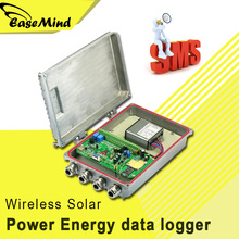 Wireless Solar Power Energy data logger voltage current with Free Software app