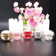 hot sale High end 5 g plastic cosmetics jar, 5g ball shape sample empty jar wholesale ,plastic small 5g cosmetic jars