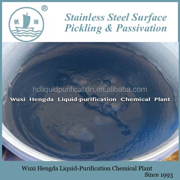 white pickling paste stainless steel cleaning chemicals