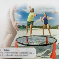 Spikeball set -As Seen On Shark Tank TV Outdoor Sports Beach Ball Game 3 Ball Set With, Tailgate - Includes Playing Net, 3 Balls
