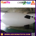 plain white advertising airship inflatable helium blimp for display