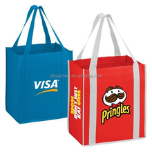 Foldable Promotional Reusable Printed Flat Non-woven Tote Bags