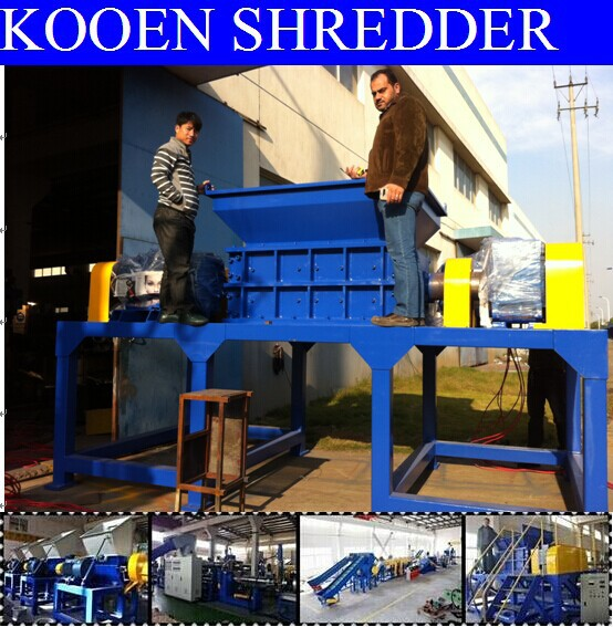 HOT scrap plastic metal shredder