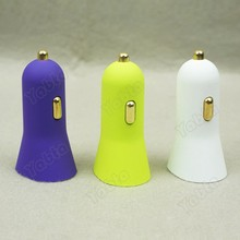 Single USB Auto Charger 5V 1A Horn Shaped Frosted Car Charger