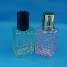 Empty glass bottle with perfume sprayer/ Middle east series perfume glass bottle