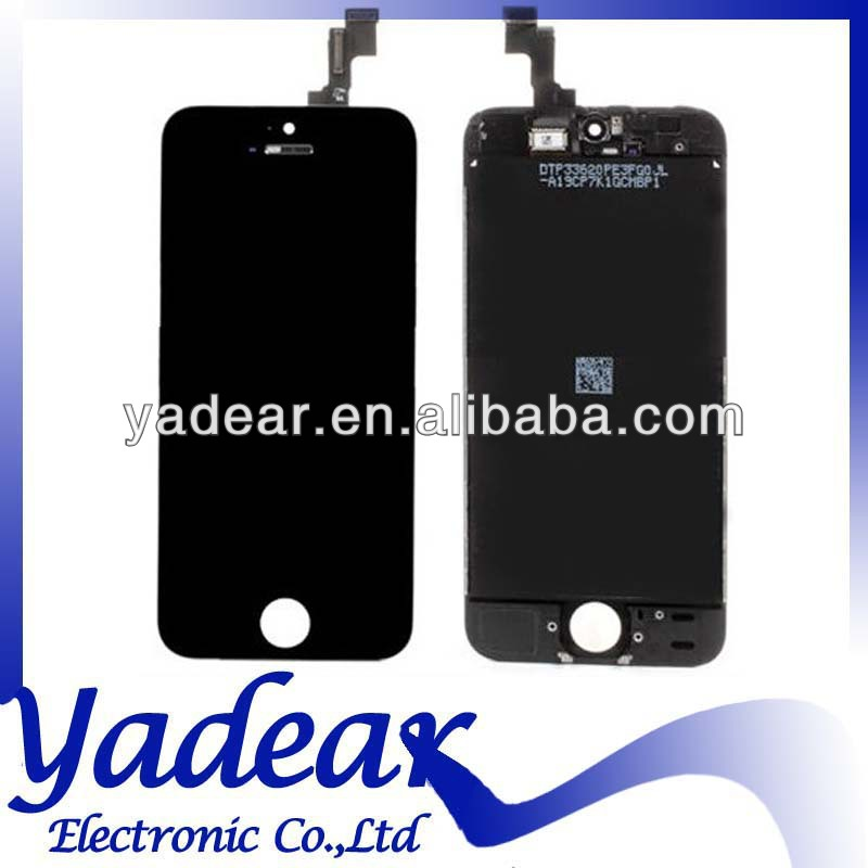 Cheap price OEM black and white color replacement lcd touch screen for iphone 5s