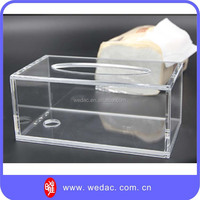 custom OEM china supplier wholesale acrylic small pack facial tissue holder box