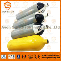 Industrial SCBA fire fighting stainless steel O2 bottles, fire fighting cng cylinders