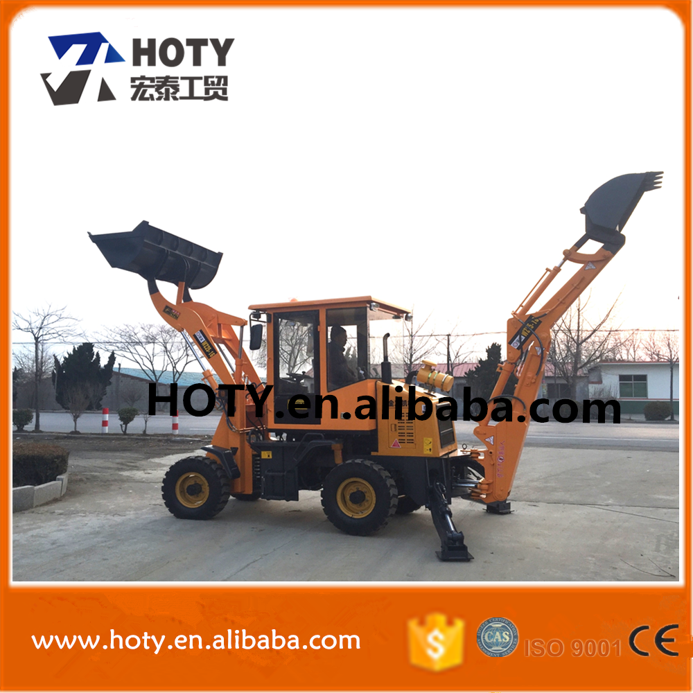 top quality and pilot control loader back excavator , four drive backactor loader