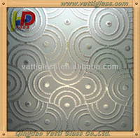 7 Inch Plastic Round Silver Mirror Crystal Glass Mosaic Tile