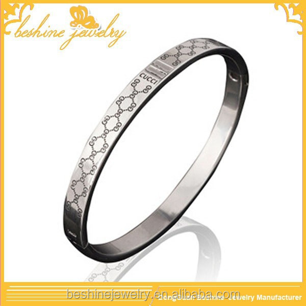 Stainless Steel Ethnic Silver Bangle Men