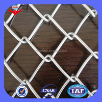 Best price decorative galvanized/PVC coated used chain link fence for sale ( ISO9001factory)