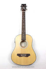 34''cheap linden plywood acoustic guitar with FSC certificated G-Q34A