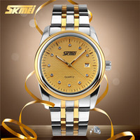 skmei luxury watch japan quartz movt accurate business man stainless watch