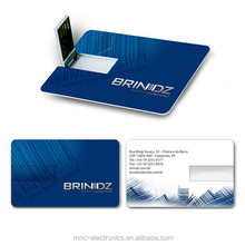 Promotional credit card shape usb pen drive with full color custom logo printing and optional capacity