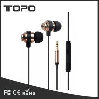 Good Ear Plug Bass ear noise cancelling earphone metal stereo wired headphone mic