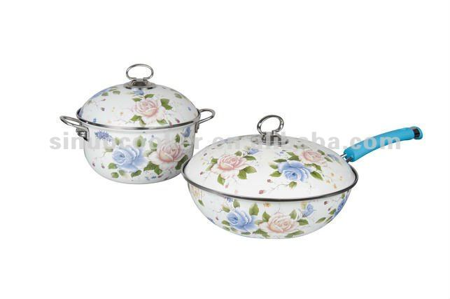 High-quality porcelain enamel cookware
