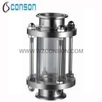 Stainless steel in line sight glass for food grade pipeline