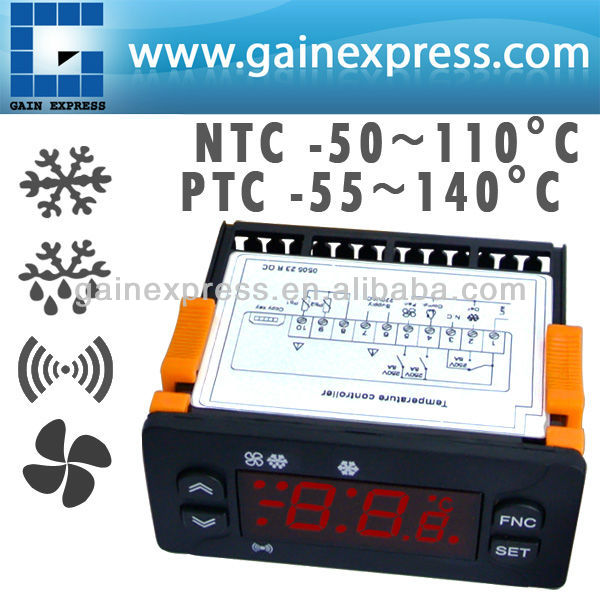 Digital Microcomputer Refrigeration Temperature Controller Compressor Defrost Fan + NTC PTC Probe type
