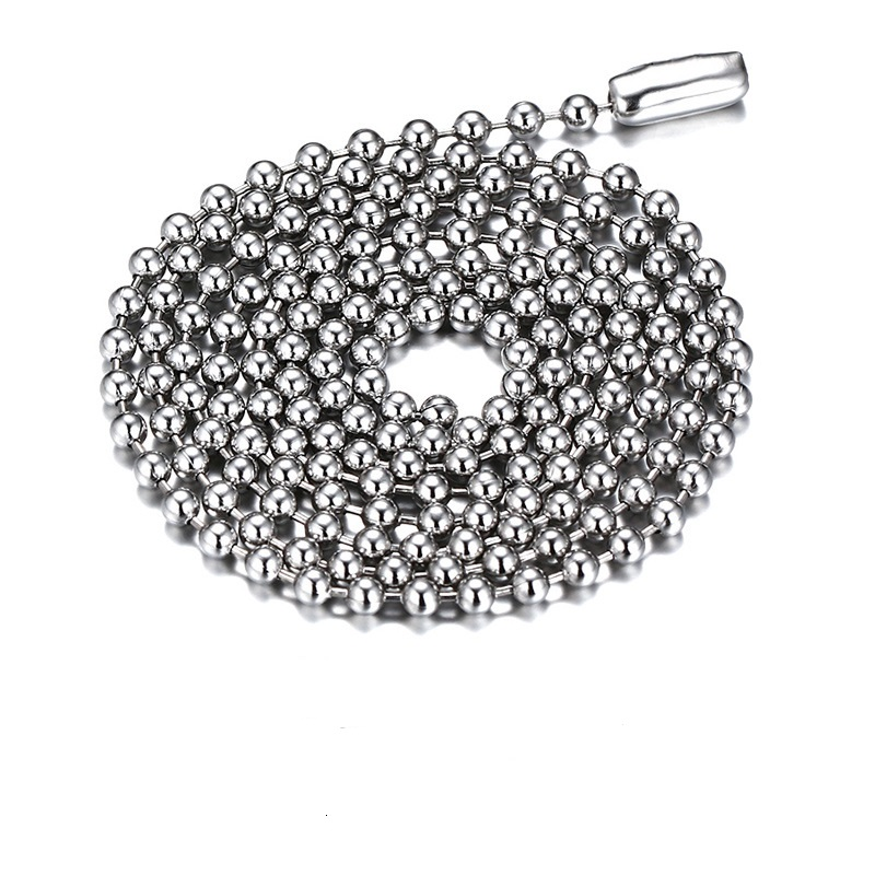 Jewelry Necklace Silver Plated Stainless Steel Ball Chain Necklace for Men Women Ball Chain DIY Necklace Jewelry Accessories