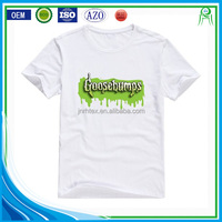 High quality custom screen printing 100% premium cotton tee shirts