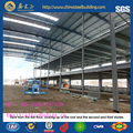China manufacturer economical portable light frame steel structure warehouse/garage/storage shed/building equiped with crane