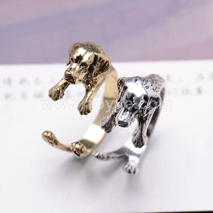 Hot selling fashion jewelry animal dog stainless steel ring