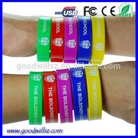 4gb/8gb wristband usb memory stick high quality pen drive usb with custom logo