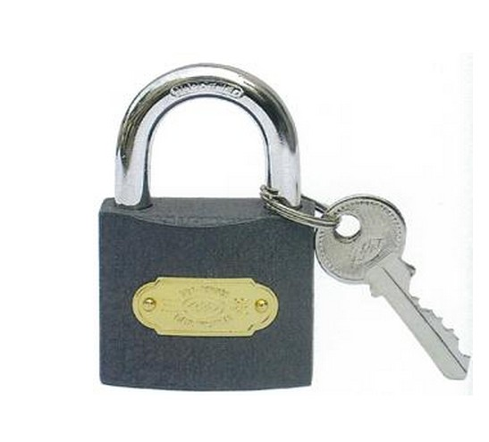 Tri-Rhomb Gray Iron Padlock, Different Brand for You Choose (J0103)