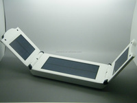 Portable 12000mah solar charger for laptop table pc mobile phone foldable solar power bank