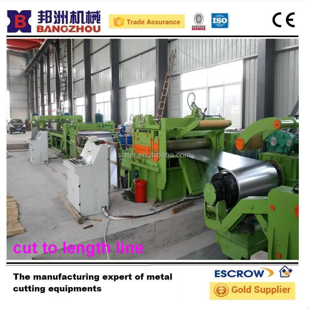 steel coil high speed cut to length line for galvanized sheet