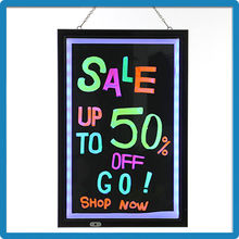 Factory Price ZD Transparent Panel Electronic Writable Board 90 Flashing Modes Writable LED Neon Sign