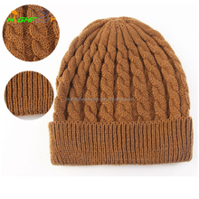 solid colorway Children knitting beanie Hat OEM Custom Knit Beanies crochet knit beanie, winter hat