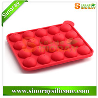 20 Silicone Tray Silicone Pop Cake Mold With Stick Silicone Lolli Pop Baking Mold