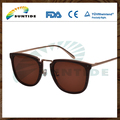 Wooden sunglasses china 2016 new products, made of wood and metal