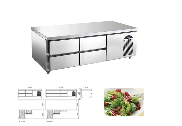 Commercial kitchen worktable refrigerator keeping fresh with drawers