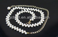 Ladies Fashion plastic pearl beaded belt of Waistband