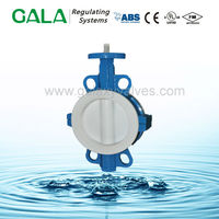 wcb wafer type ptfe seal butterfly valve butterfly valve for water