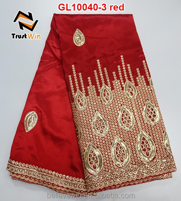 high quality african lace george GL10040 in red for sale