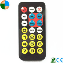 Mini Thin 8mm 21 Keys Silvery MP3 Remote control CR2025 Battery Car Audio Video Remote Control