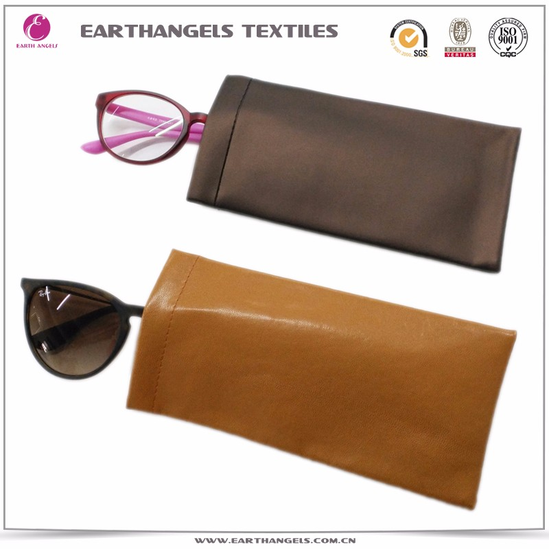 Custom Color PU Leather Optical Glasses/Eyeglasses/Eyewear Pouch