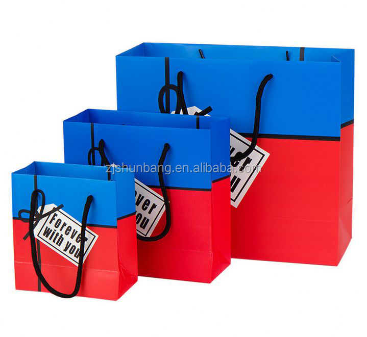 2015 cheap paper bag / tin tie kraft paper ba/ laminated clothes paper bag