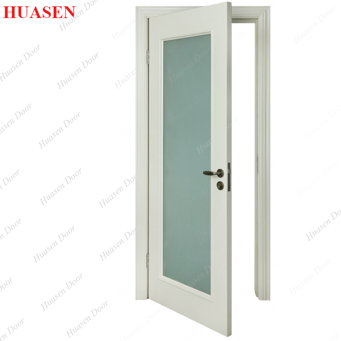 Painting glass entry door with window that opens