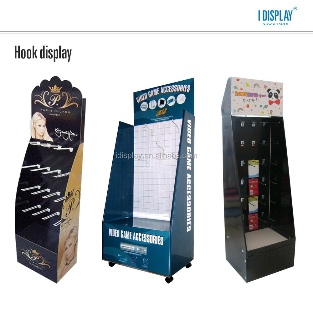 heavy duty cardboard floor display stand for retail supermarket floor display stand