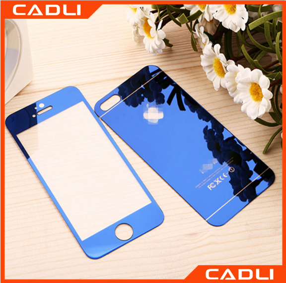 Full Cover Film Front+Back Mirror Reflective 3D Tempered Glass For iPhone 6 6s